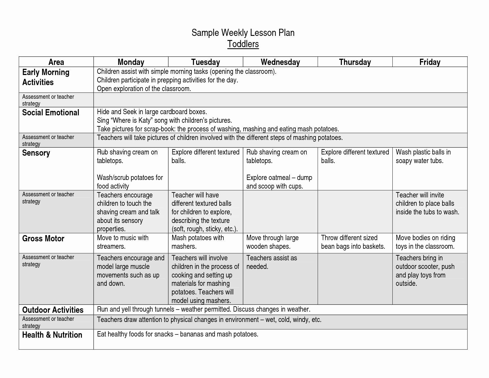 Weekly Lesson Plan Templates New Download Free Weekly Lesson Plan Template Lots Of Free