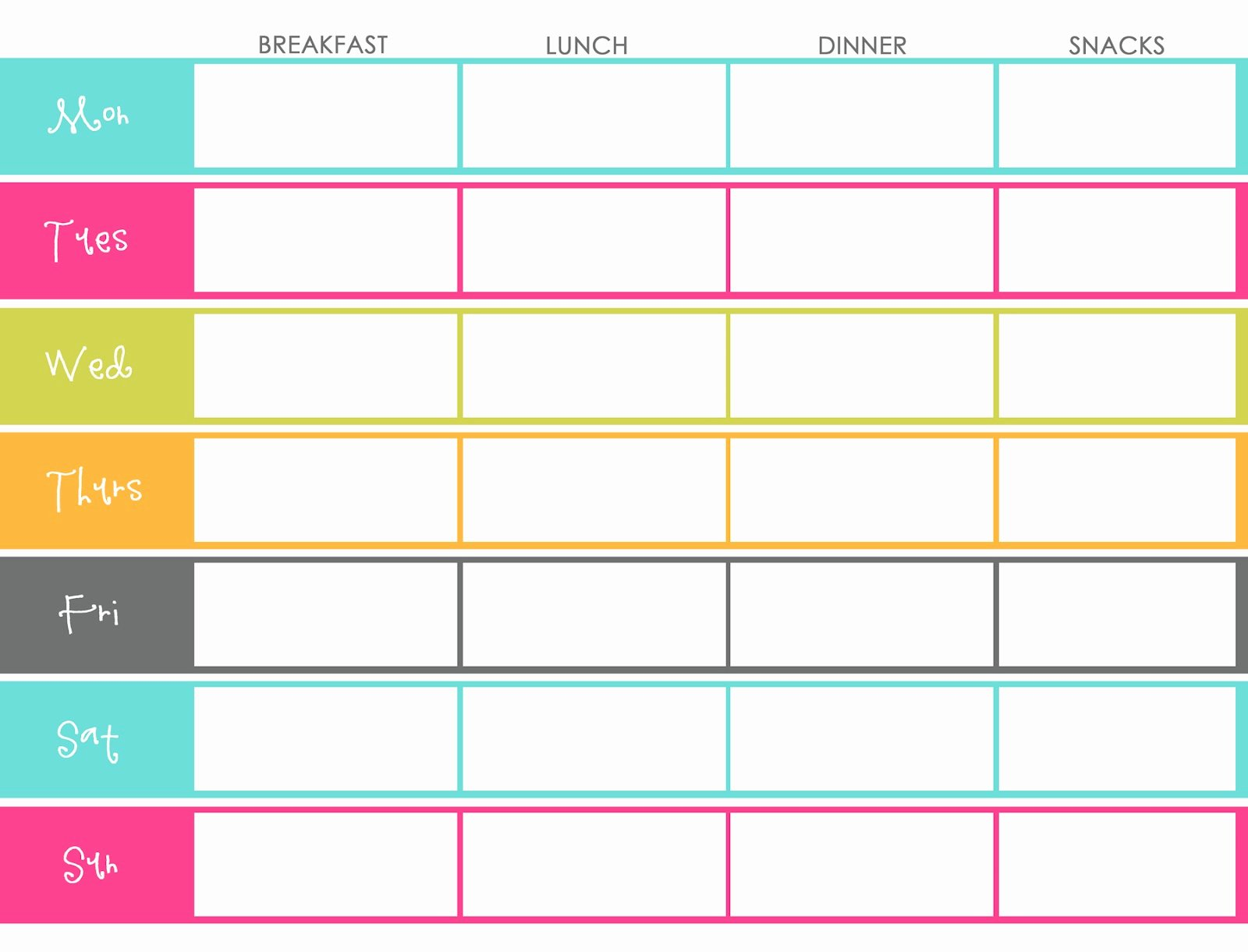 Weekly Menu Template Word Beautiful Little Housewife Meal Planning
