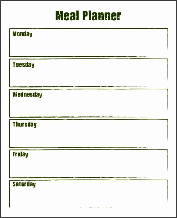 Weekly Menu Template Word Best Of 10 Weekly Meal Planner Example Sampletemplatess