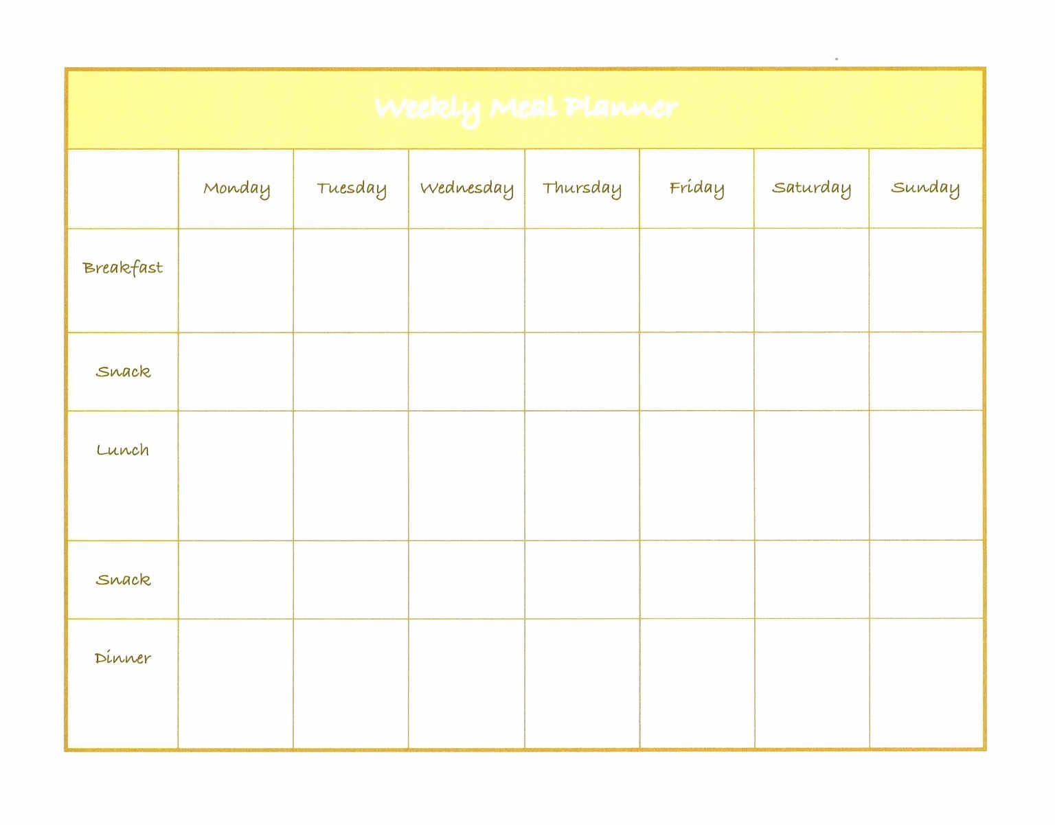 Weekly Menu Template Word Fresh 5 Weekly Diet Plan Template Uieoe