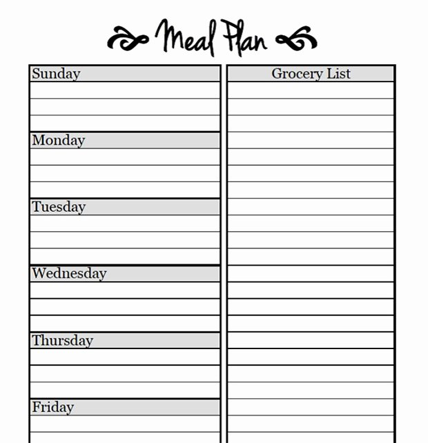 Weekly Menu Template Word Fresh Printable Meal Planning Templates to Simplify Your Life