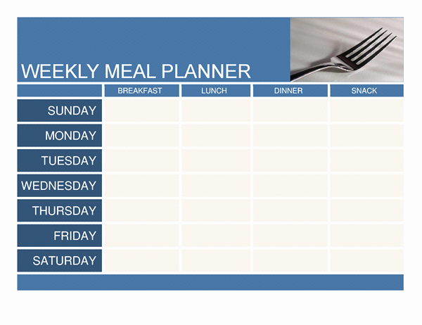 Weekly Menu Template Word Luxury Planners and Trackers Fice
