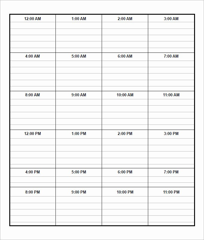 Weekly Schedule Template Pdf Beautiful Daily Schedule Templates Word Templates Docs