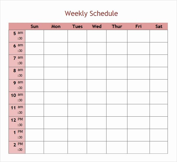 Weekly Schedule Template Pdf Fresh Free 7 Weekend Scheduled Samples In Google Docs