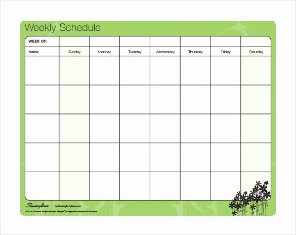 Weekly Schedule Template Pdf Unique Timetable Templates – 14 Free Word Pdf Documents