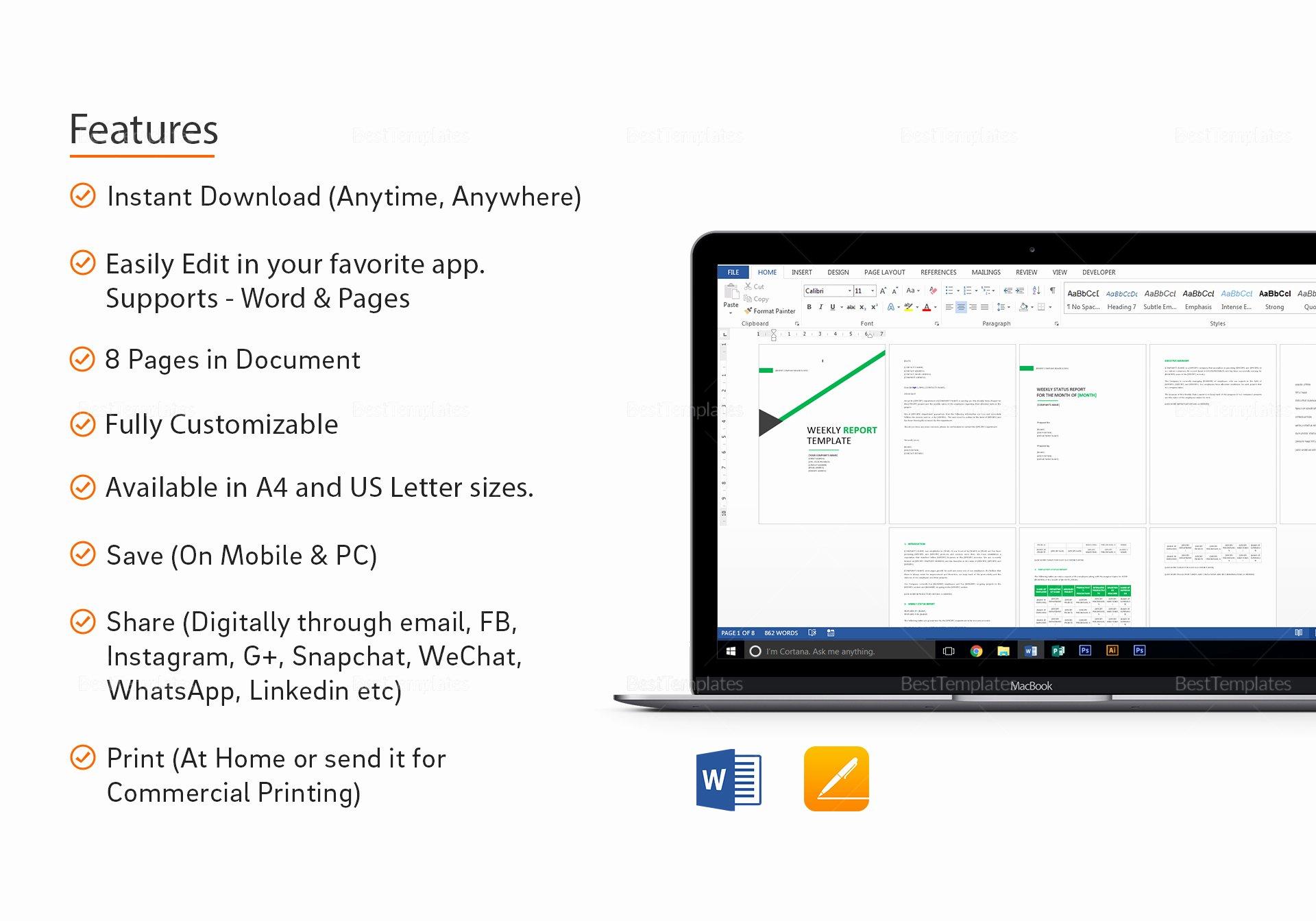 Weekly Status Report Template Word Best Of Weekly Status Report Template In Word Google Docs Apple