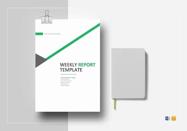 Weekly Status Report Template Word Inspirational Free 18 Weekly Report Templates In Samples Examples
