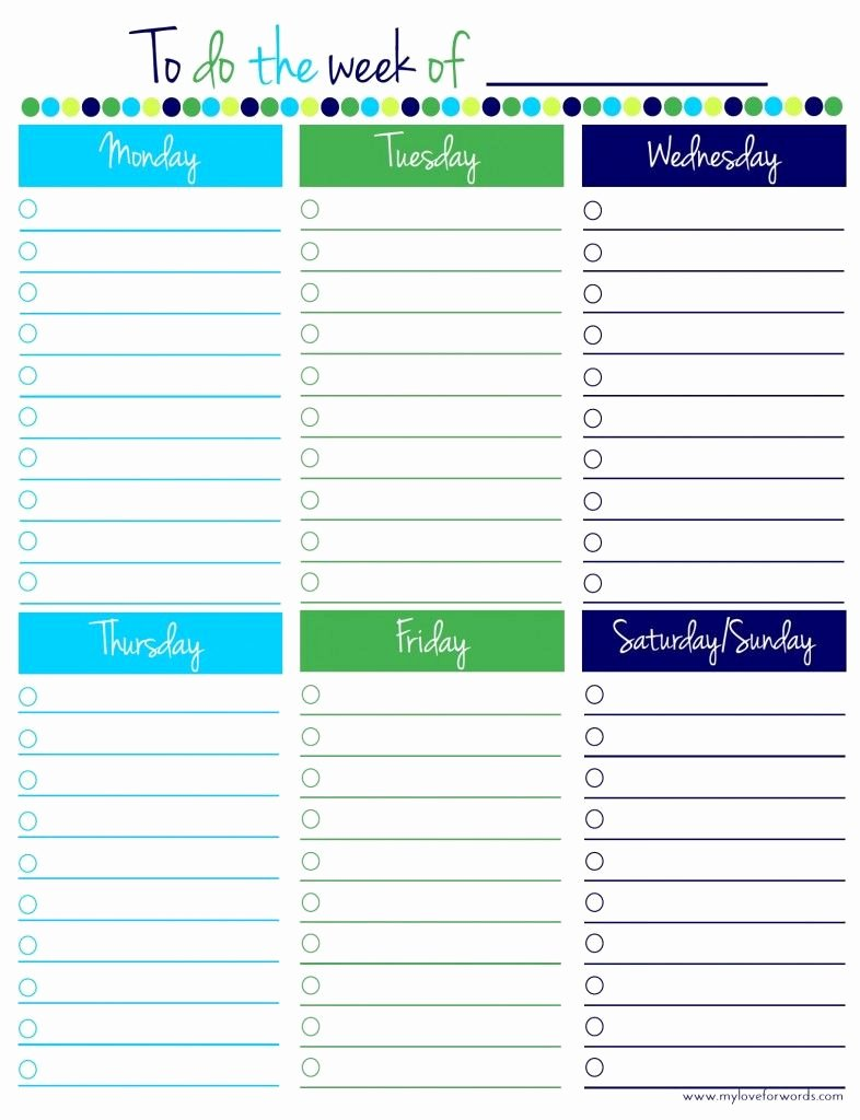 Weekly to Do List Template Awesome Freebie Friday Weekly to Do List