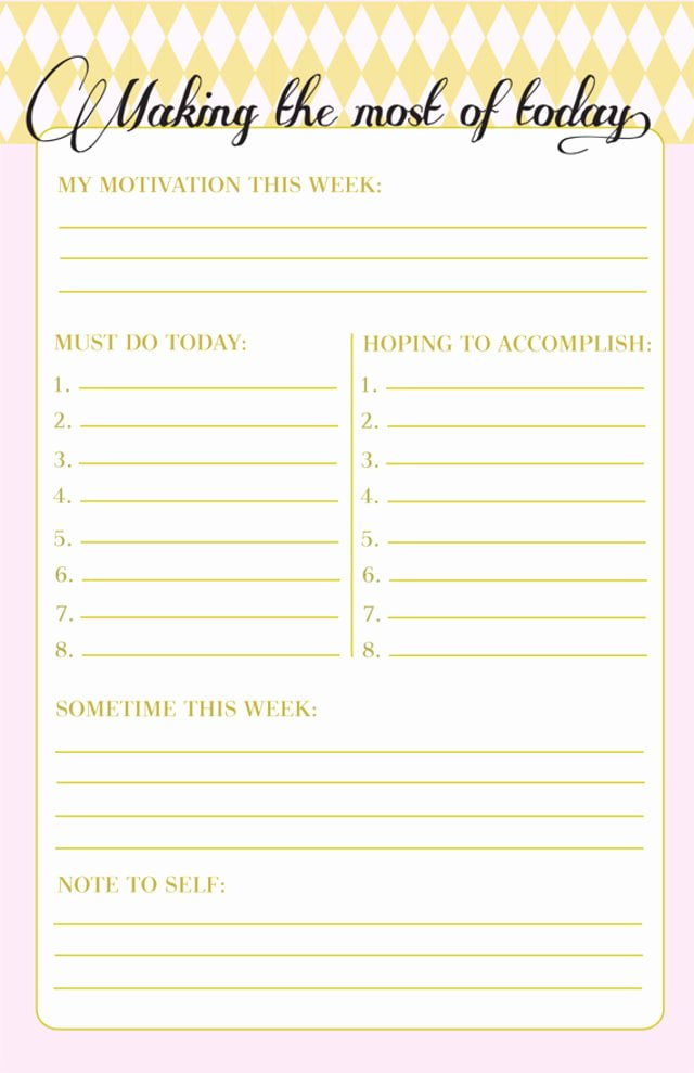 Weekly to Do List Template Best Of 10 to Do Lists as Pretty as they are Useful