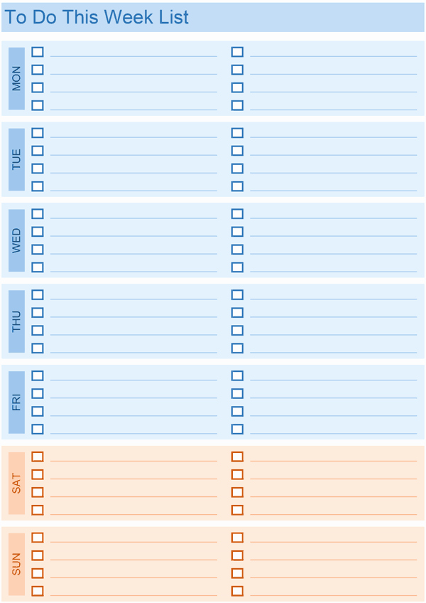 Weekly to Do List Template Fresh Daily to Do List Templates for Excel
