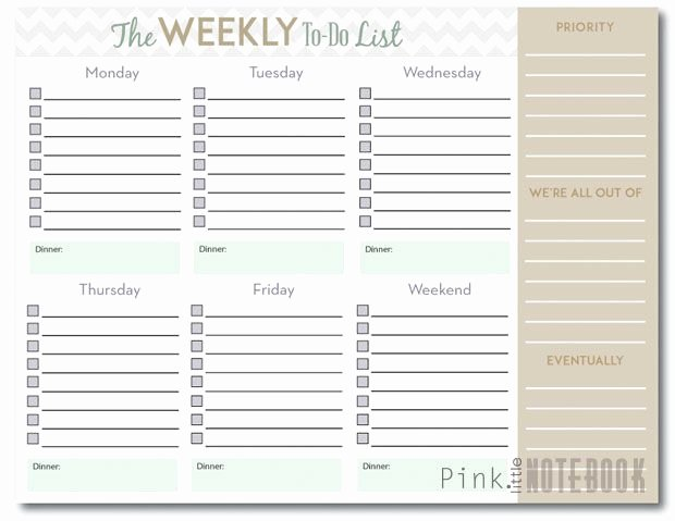 Weekly to Do List Template New Pin On the Ocd Teacher