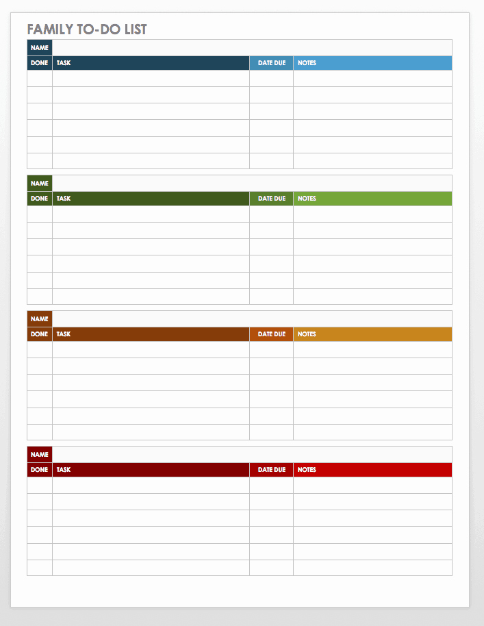 Weekly to Do List Templates Beautiful 30 Free Task and Checklist Templates