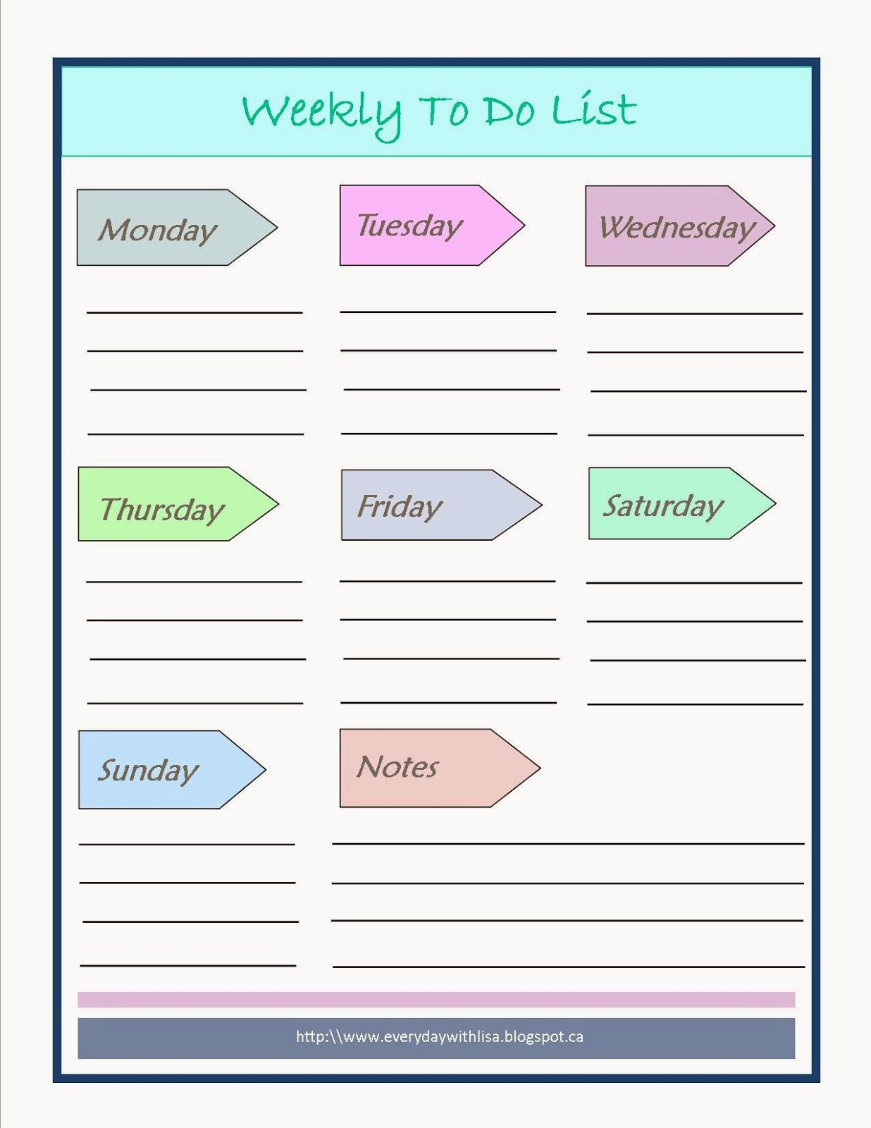 Weekly to Do List Templates Beautiful Everyday with Lisa Meal Planning & to Do List Printables