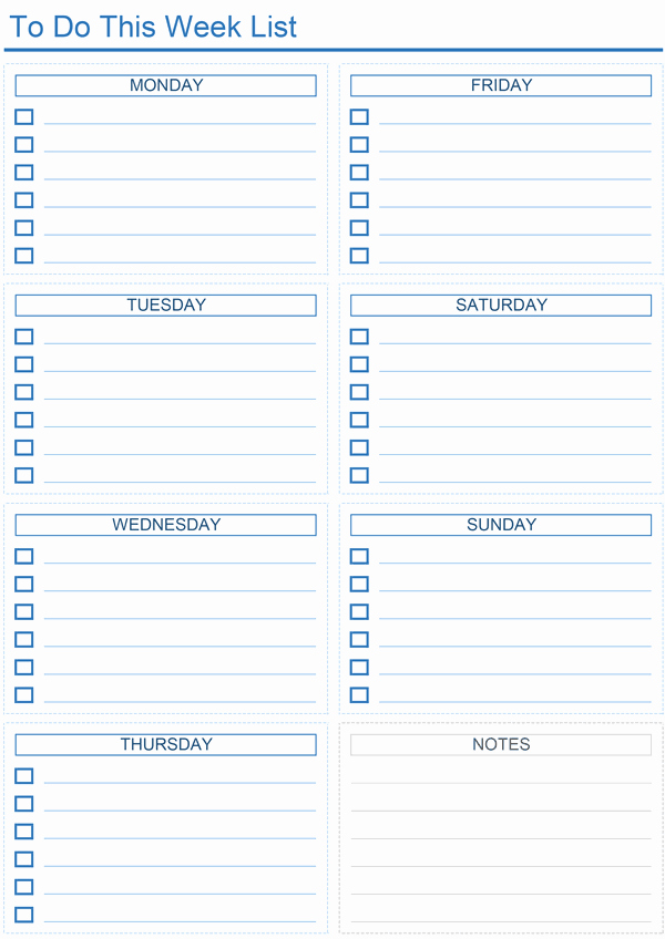 Weekly to Do List Templates Best Of Daily to Do List Templates for Excel