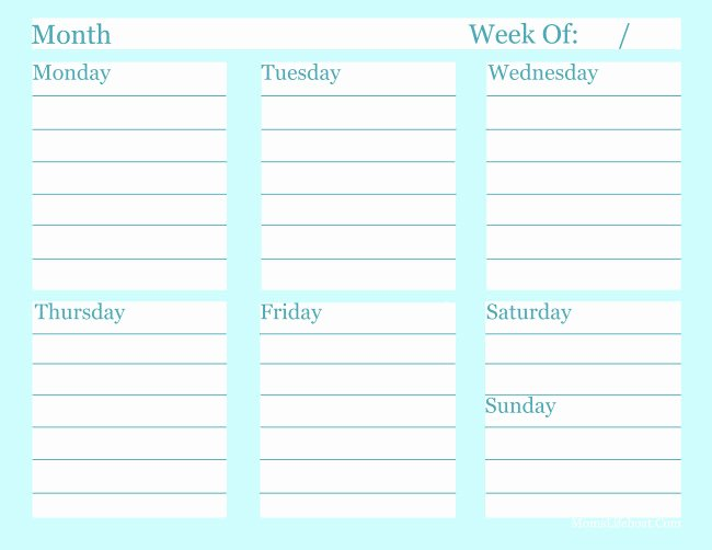 Weekly to Do List Templates Best Of Free Weekly to Do List Printable Archives