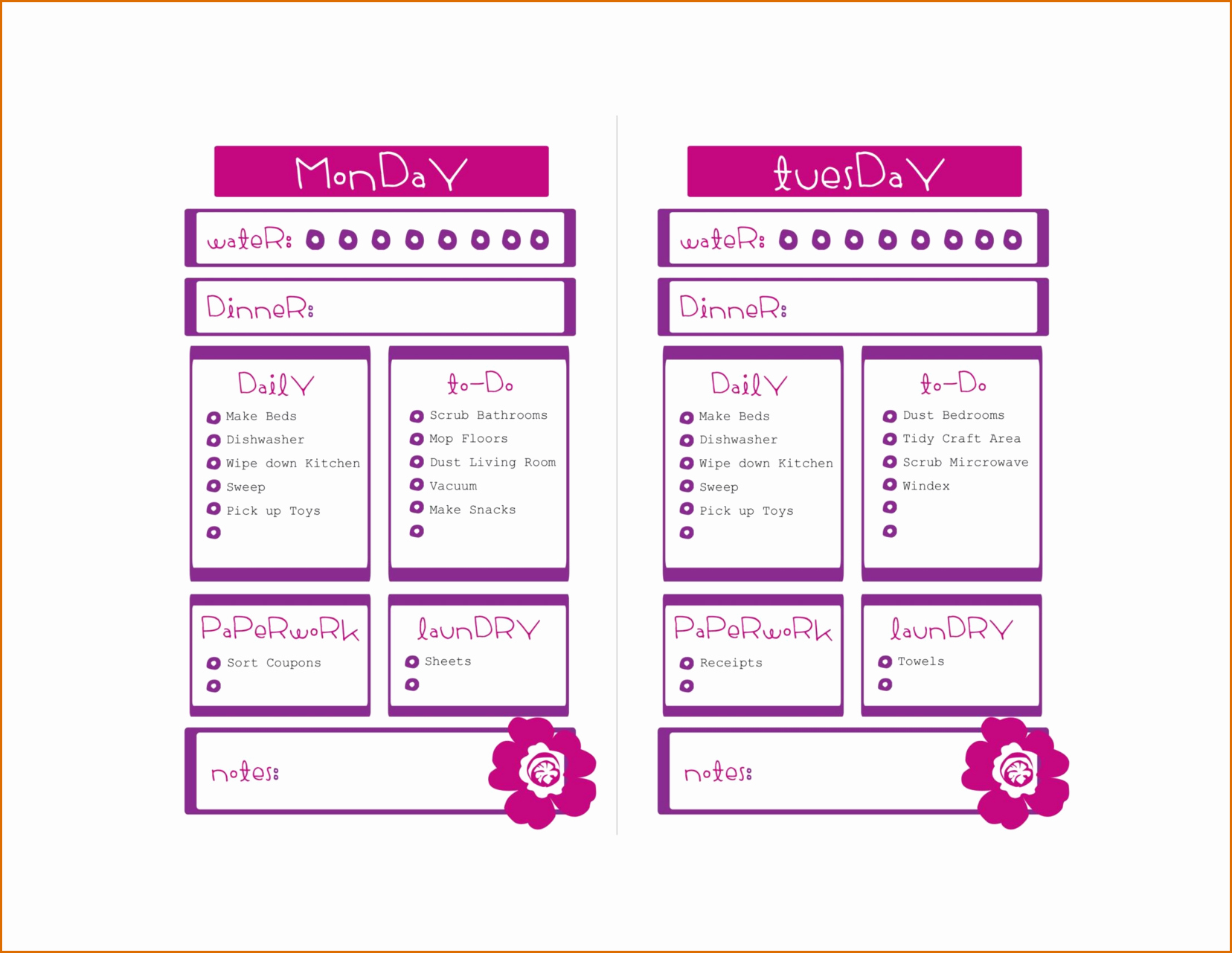 Weekly to Do List Templates Inspirational 8 Weekly to Do List Template