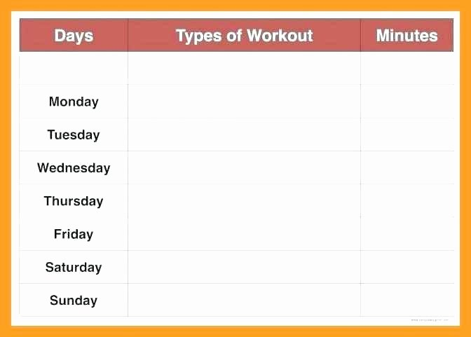 Weekly Workout Schedule Template Awesome Weekly Schedule Template