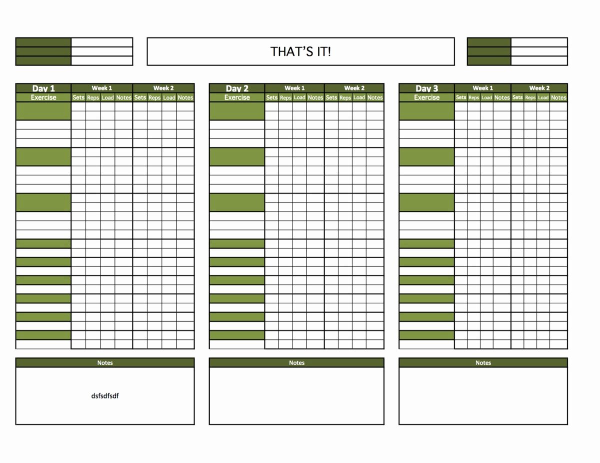 Weekly Workout Schedule Template Beautiful Best S Of Blank Calendar Template Printable Workout