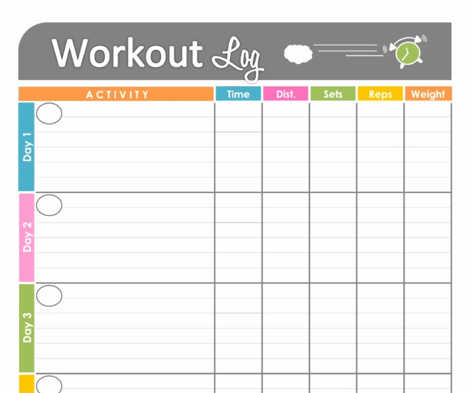 Weekly Workout Schedule Template Elegant Unavailable Listing On Etsy