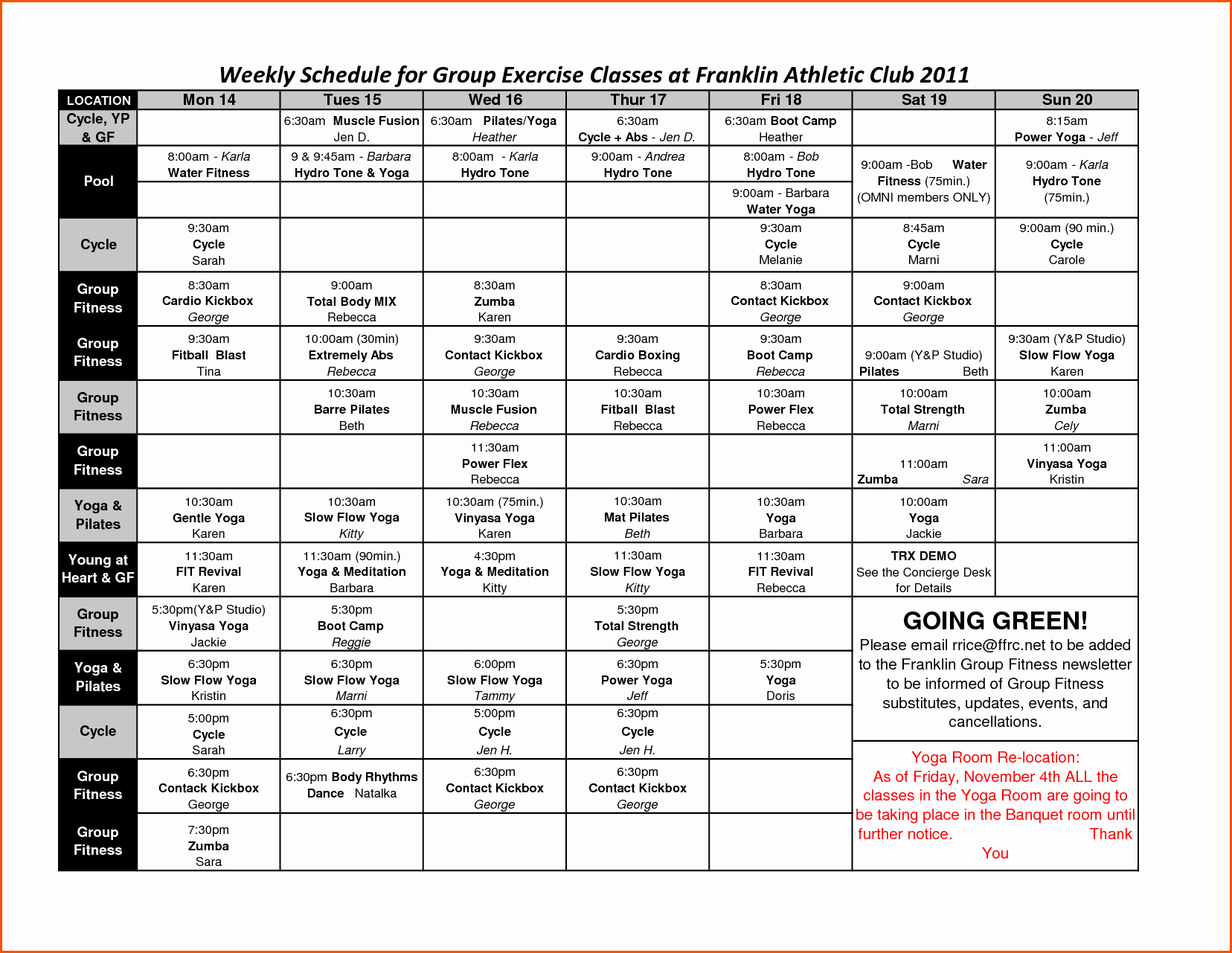 Weekly Workout Schedule Template Fresh 25 Of Workout Schedule Template Free