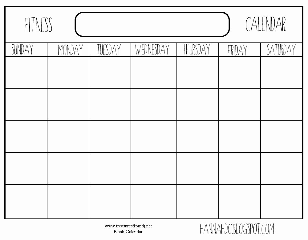 Weekly Workout Schedule Template Fresh Best S Of Blank Calendar Template Printable Workout