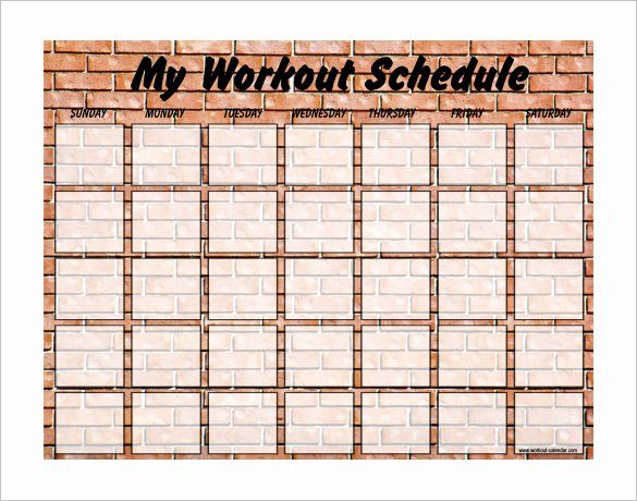 Weekly Workout Schedule Template Luxury Exercise Schedule Template 7 Free Word Excel Pdf