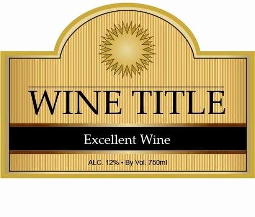 Wine Bottle Tag Template Fresh Custom Wine Bottle Label Template