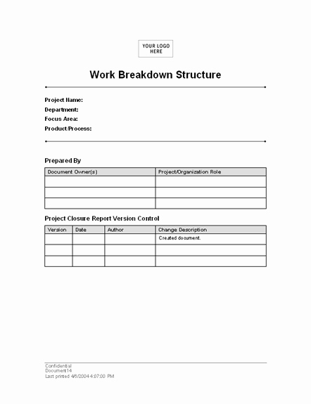 Work Breakdown Structure Template Word Awesome Download Work Breakdown Structure Template for Word 2003