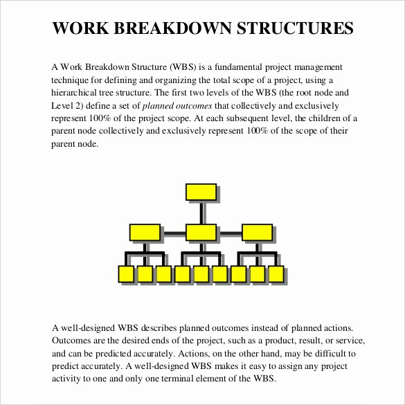 Work Breakdown Structure Template Word Beautiful 11 Work Breakdown Structure Templates
