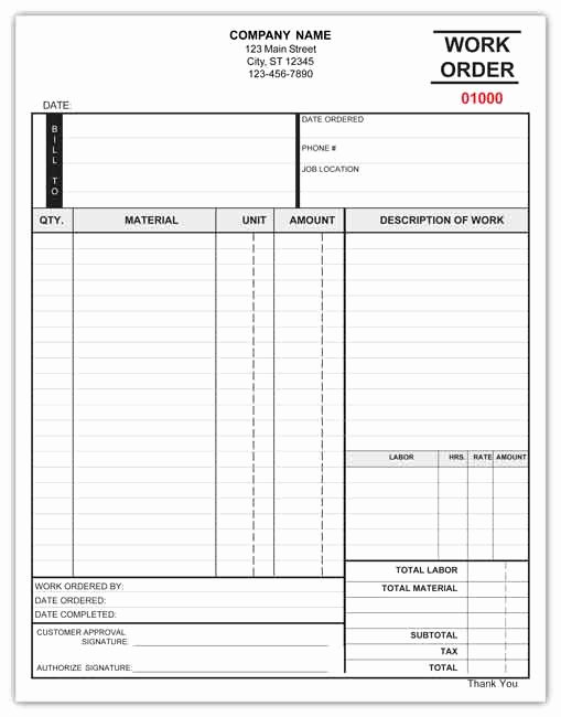 Work order Template Pdf Awesome 40 Work order Template Free Download [word Excel Pdf]