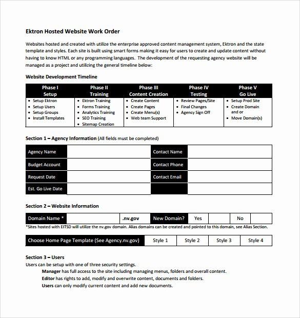 Work order Template Pdf Beautiful 14 Work order Samples Pdf Word Excel Apple Pages