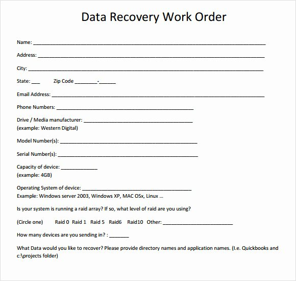 Work order Template Pdf Elegant 14 Work order Samples Pdf Word Excel Apple Pages