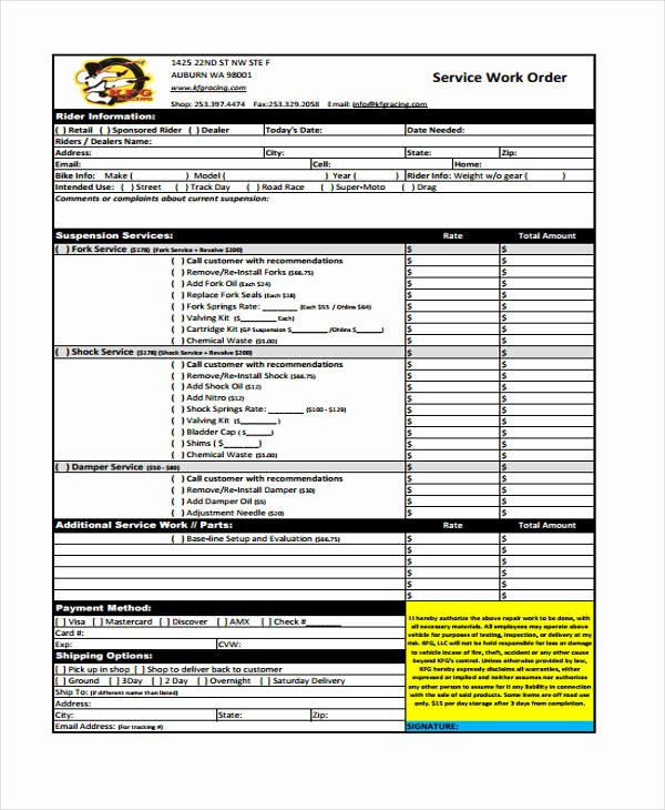 Work order Template Pdf Inspirational 10 Work order Templates Pdf Apple Pages
