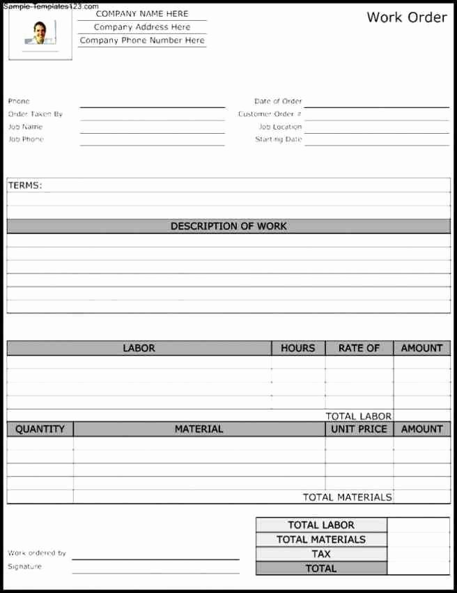 Work order Template Word Best Of order form Template Word Purchase order Template Itinerary