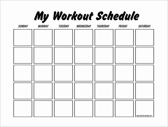 Work Out Schedule Template Elegant Workout Schedule Template 10 Free Word Excel Pdf