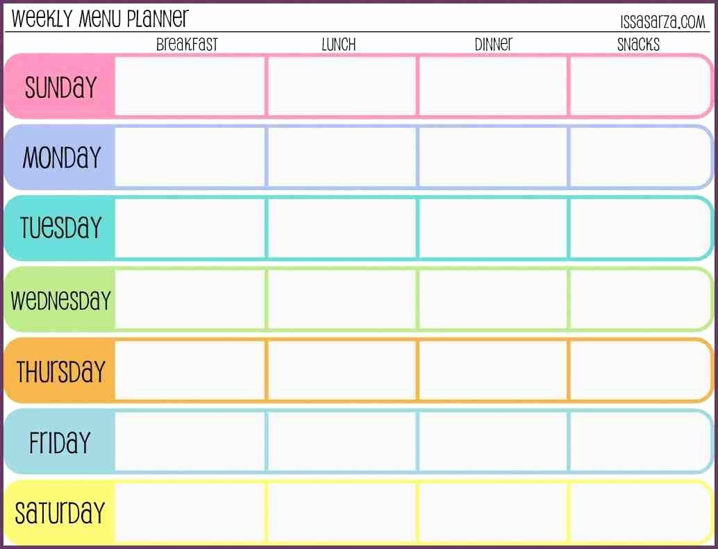 Work Out Schedule Template Fresh Weekly Workout Schedule Template