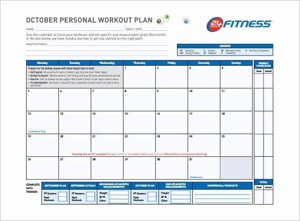 Work Out Schedule Template Fresh Workout Plan Template Word
