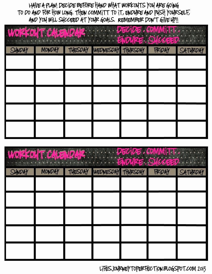 Work Out Schedule Template Luxury Life S Journey to Perfection Take Care Tuesday Free