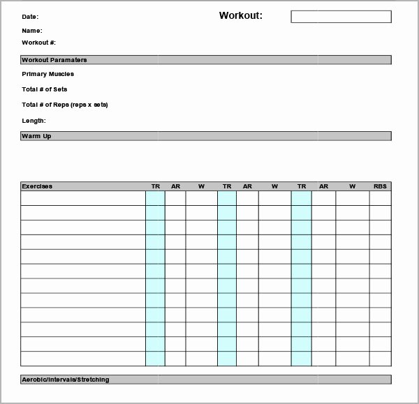 Work Out Schedule Template Luxury Workout Calendar Template