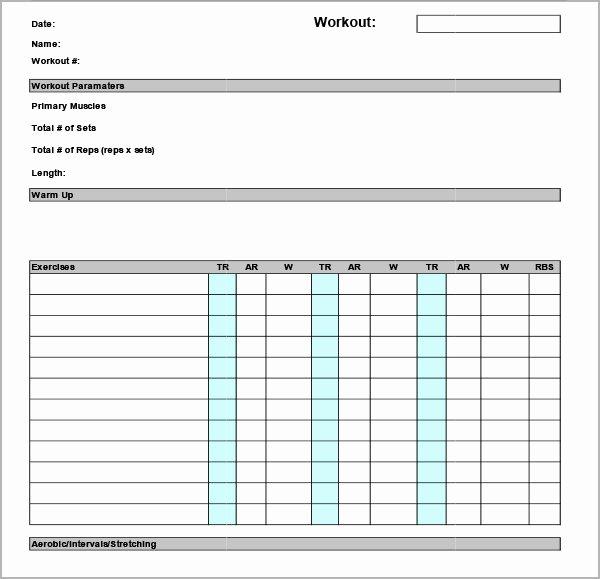 Work Out Schedule Template New Workout Calendar Template