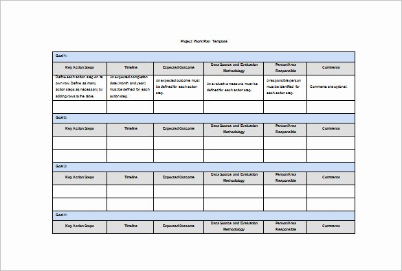 Work Plan Template Excel Awesome Work Plan Template In Excel – Printable Schedule Template