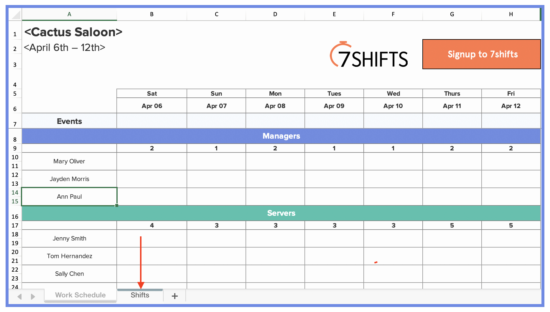 Work Plan Template Excel Elegant How to Make A Restaurant Work Schedule with Free Excel