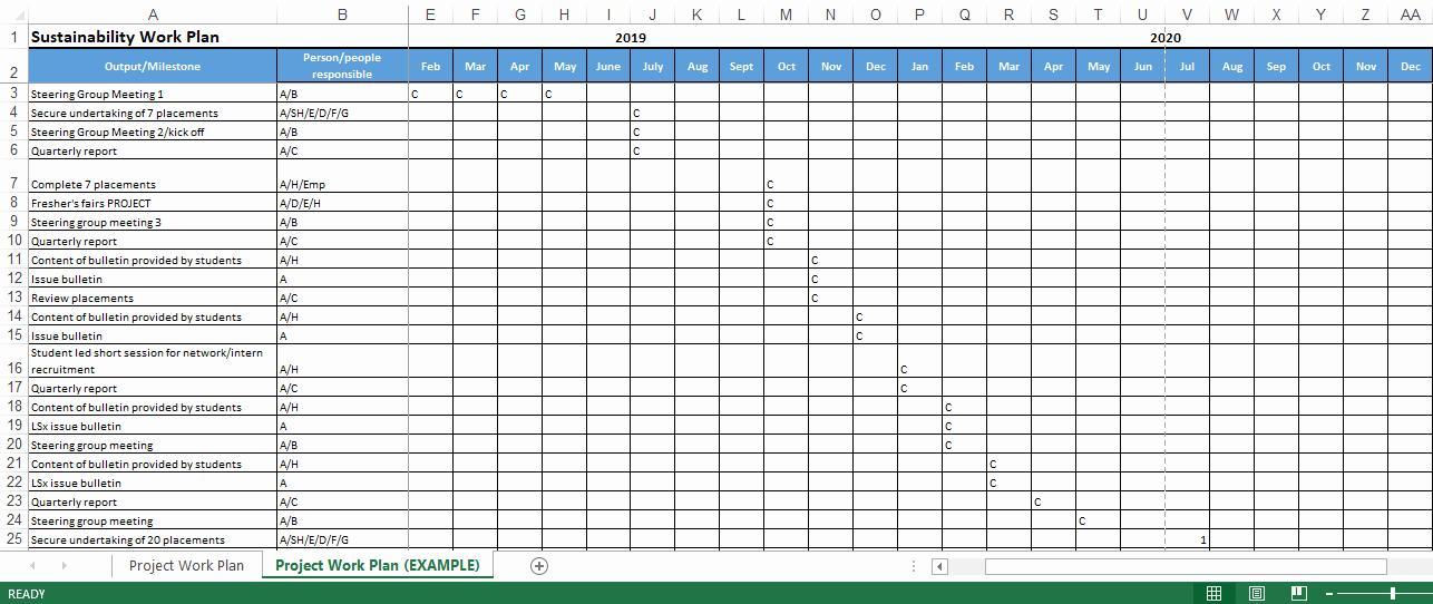 Work Plan Template Excel Elegant Project Work Plan Excel