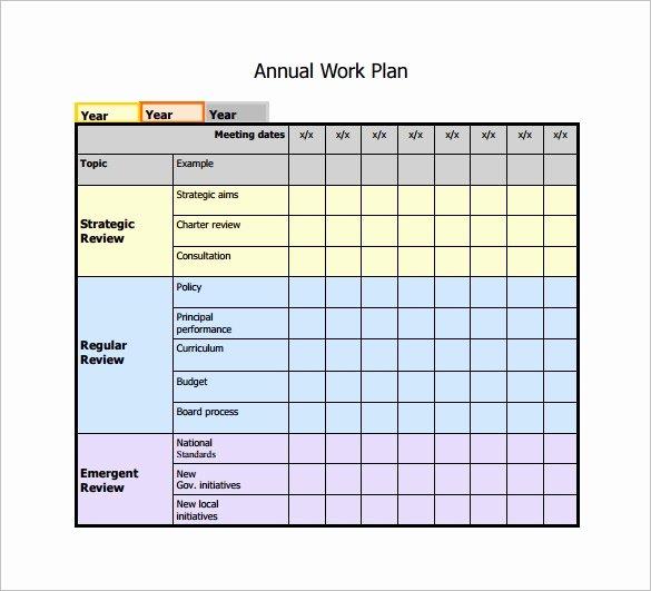 Work Plan Template Excel Elegant Work Plan Template 12 Free Word Pdf Documents Download