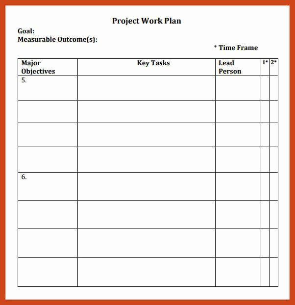 Work Plan Template Excel Lovely Simple Work Plan Template In Microsoft Excel Templates