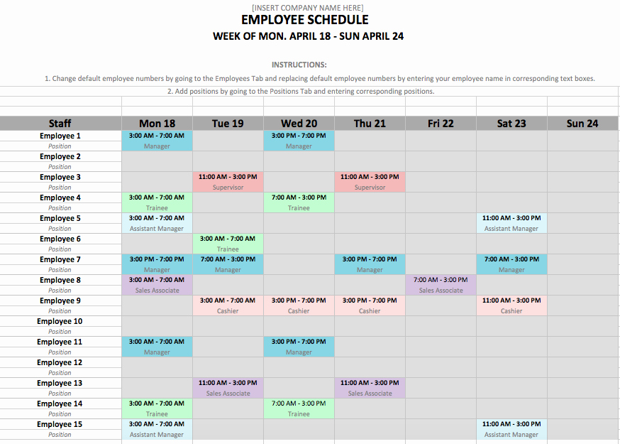Work Plan Template Excel Unique if You Manage Employees Chances are You Need An Employee