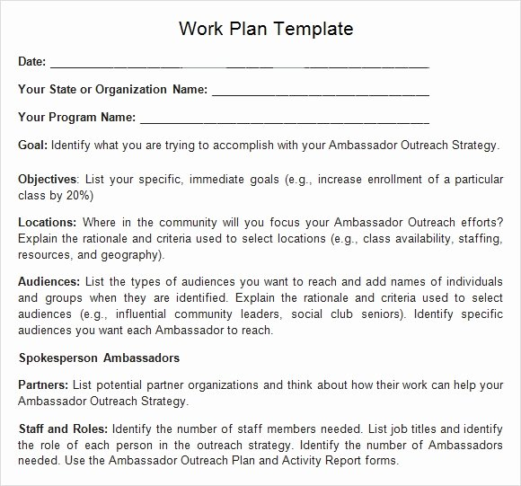 Work Plan Template Word Awesome Work Plan Template 13 Download Free Documents for Word