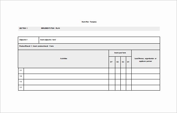Work Plan Template Word Best Of Work Plan Template 12 Free Word Pdf Documents Download