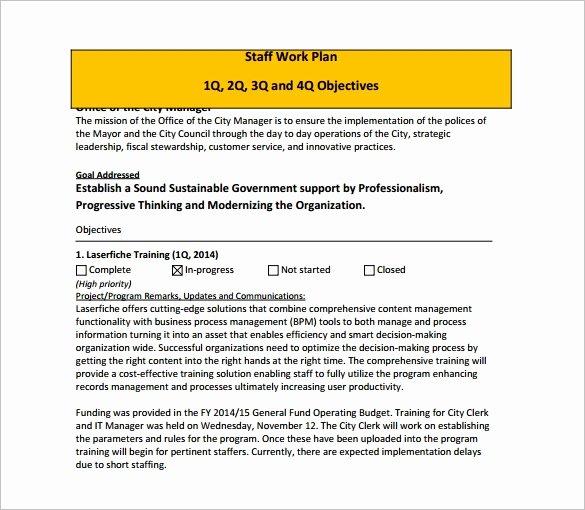 Work Plan Template Word Elegant Work Plan Template 12 Free Word Pdf Documents Download