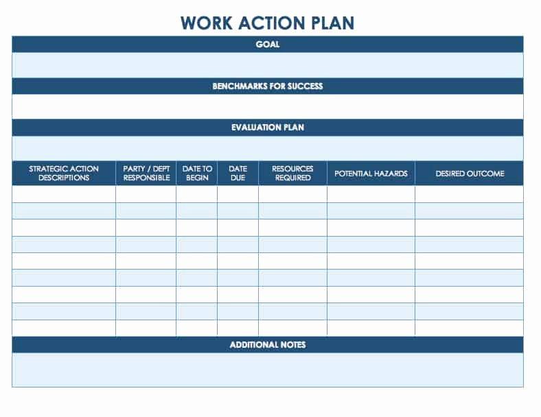 Work Plan Template Word Inspirational Free Action Plan Templates Smartsheet